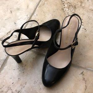 Black strappy pumps